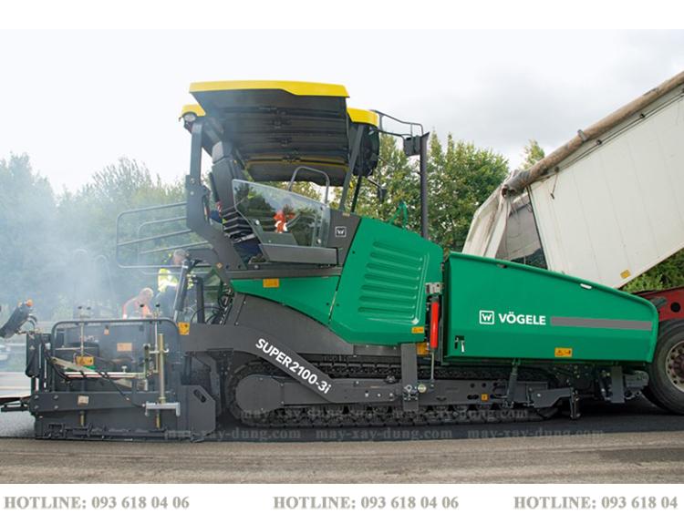 Xe trải nhựa vogele Super 2100-3  vệt trải tới 13m mới 100% sản xuất Đức