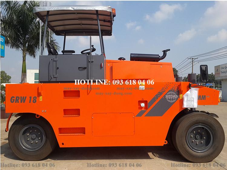 Lu Hamm GRW18, Xe lu Hamm tĩnh bánh lốp 15-28 tấn, mới 100%, sản xuất Đức