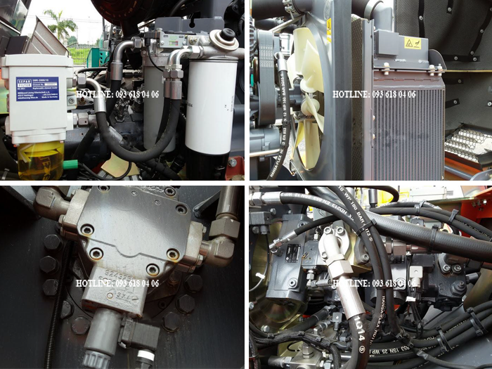Xe lu rung hamm 3520, hệ thống lọc, két nước