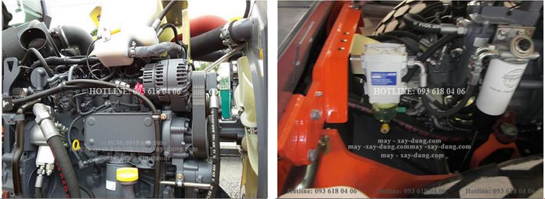hệ thống lọc, động cơ xe lu rung hamm 3414
