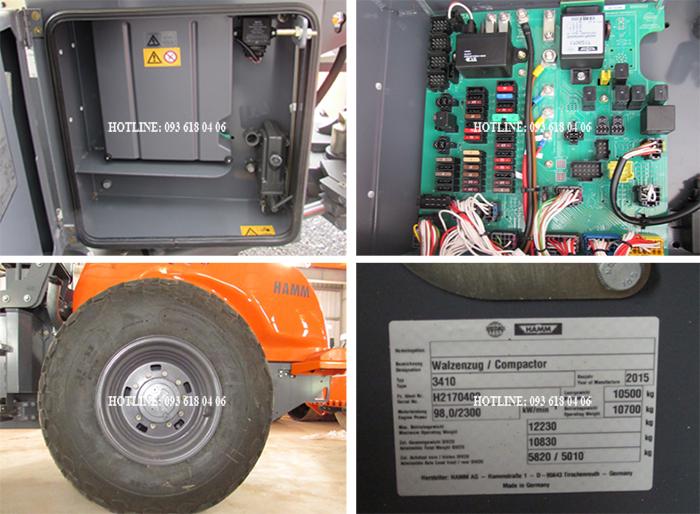 Lu rung Hamm 3410, hệ thống điện, bánh lốp